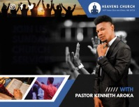 Sunday Church Service Slideshow Flyer (format US Letter) template