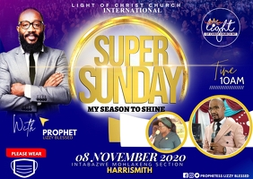 Sunday flyer Kartu Pos template