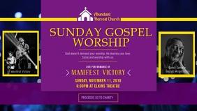 Sunday Gospel Church Event Facebook Cover Video