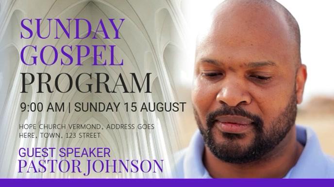 Sunday Gospel Church Video Template