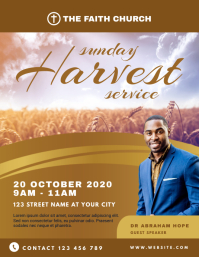Sunday Harvest Service Church Flyer