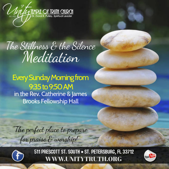 Sunday Meditation service Albumcover template