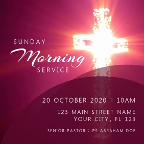 Sunday Morning Service Video Ad