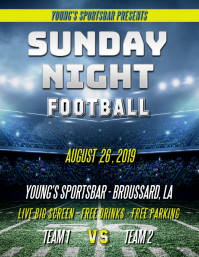 SUNDAY NIGHT FOOTBALL FLYER