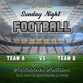 SUNDAY NIGHT FOOTBALL FLYER TEMPLATE