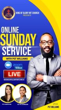 Sunday online service Instagram na Kuwento template
