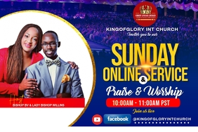 Sunday online service flyer