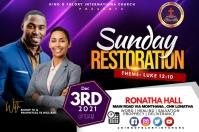 Sunday restoration Etiqueta template
