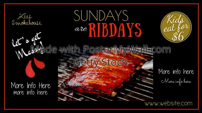 Sunday Ribdays Digital Display