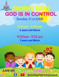 sunday school flyer template Pamflet (VSA Brief)