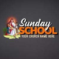 Sunday school logo childrens logo template