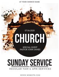 Sunday SERVICE Church Event Flyer Template