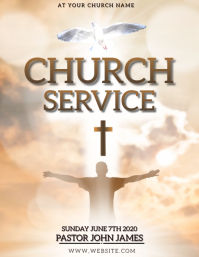 Sunday SERVICE Church Event Flyer Template