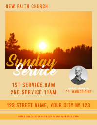Sunday Service Church Flyer