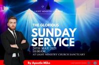 Sunday Service 海报 template
