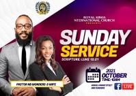 Sunday service Postcard template