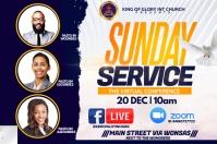 Sunday service Etiket template