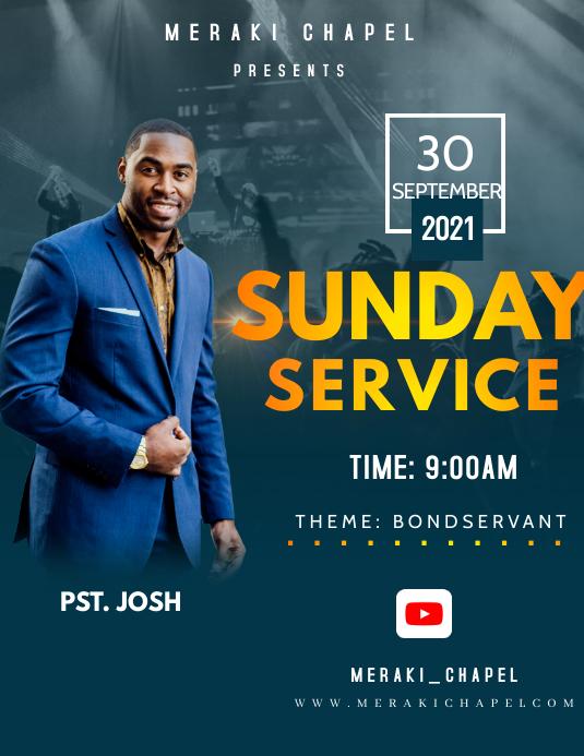 Sunday service Volantino (US Letter) template