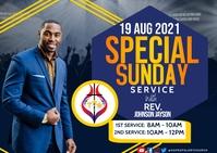 Sunday service Postal template