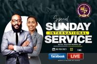 Sunday service Etykieta template