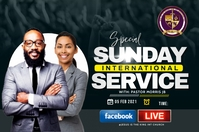 Sunday service Étiquette template
