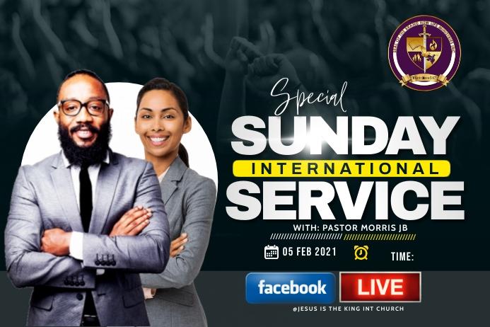 Sunday service Rótulo template