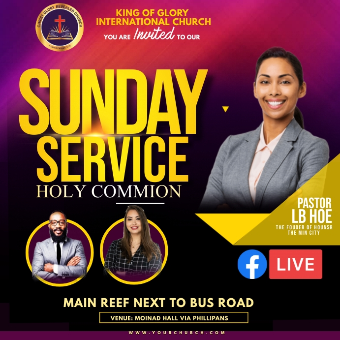 Sunday service Persegi (1:1) template