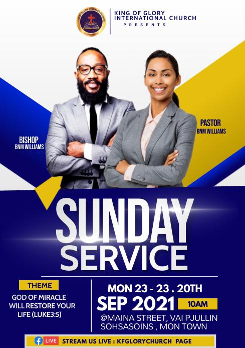 Sunday service A4 template