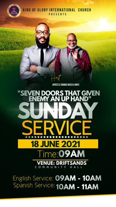 Sunday service Pantalla Digital (9:16) template