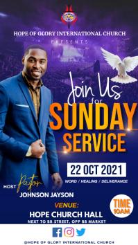 Sunday service Display digitale (9:16) template