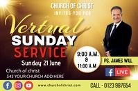 Sunday service ป้าย template