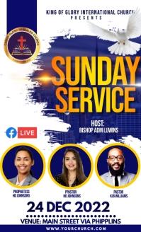 Sunday service VSA Wetlik template
