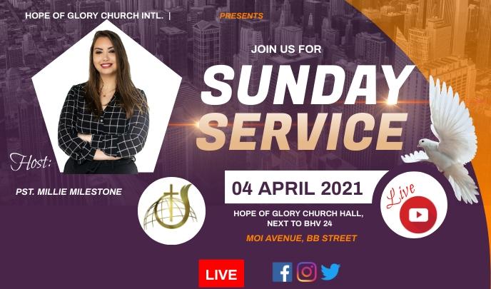 Sunday service Tag template
