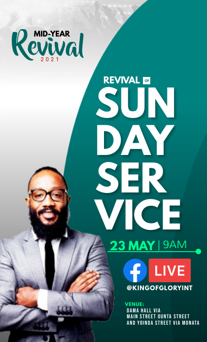 Sunday service VSA Wetlik template