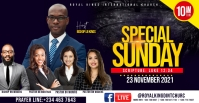 SUNDAY SERVICE FLYER Facebook Group Cover Photo template