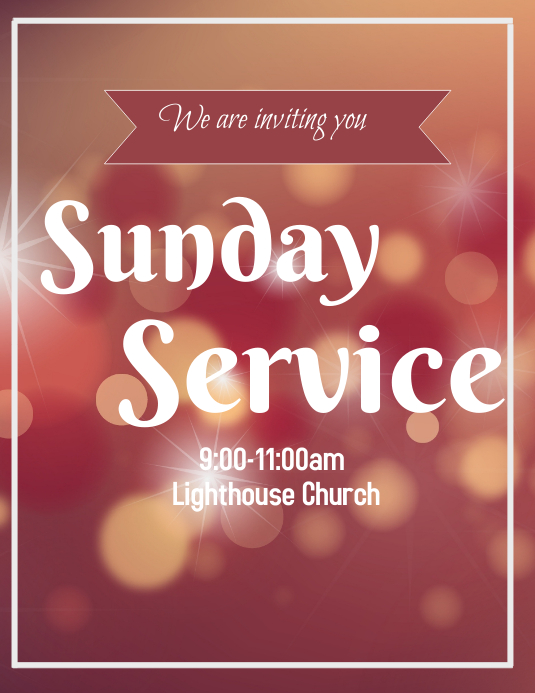 Sunday Service Flyer