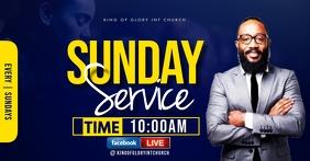 Sunday service flyer Facebook Shared Image template