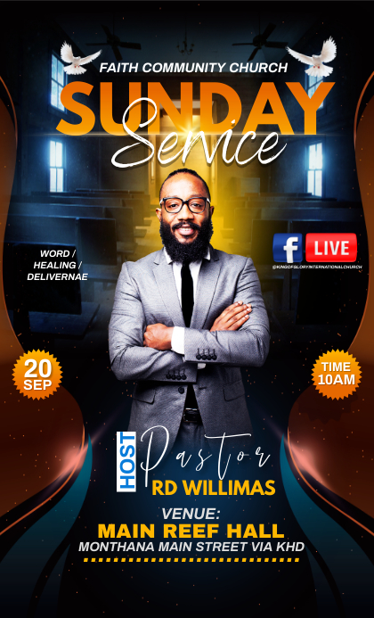 Sunday Service Flyer US na Legal template