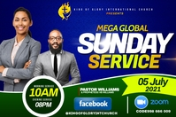 SUNDAY SERVICE FLYER Etiqueta template
