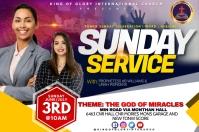 Sunday service flyer Rótulo template