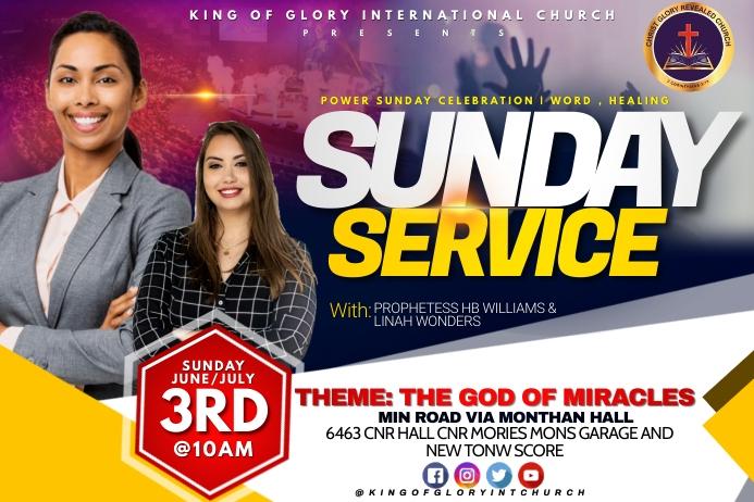 Sunday service flyer Tatak template