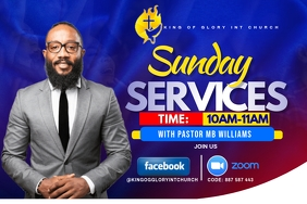 SUNDAY SERVICE FLYER Label template