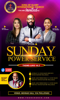 Sunday service flyer US Legal template