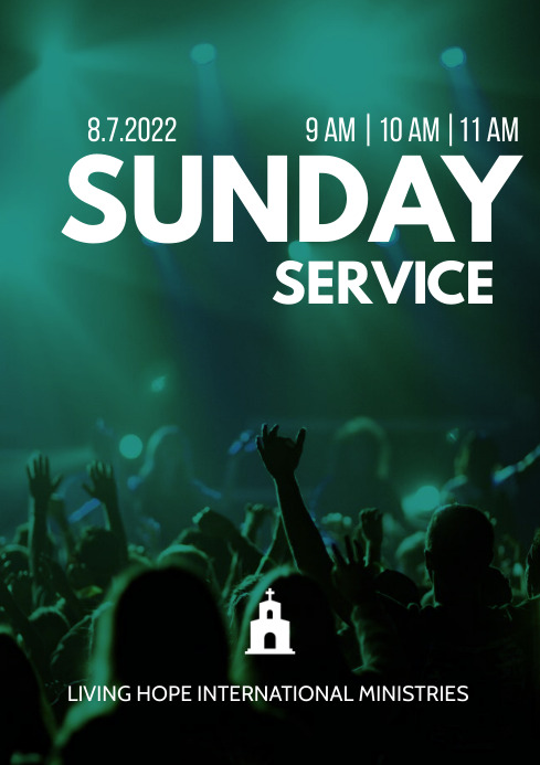 Sunday Service Poster A3 template