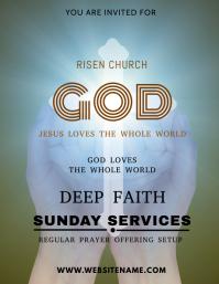 Sunday Service Template Flyer (US Letter)