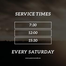 Sunday Service Times Design Template