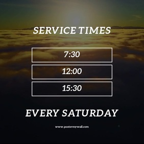 Sunday Service Times Video Design Template