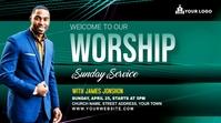 Sunday Service Worship Advert Post sa Twitter template