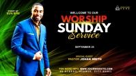 Sunday Service Worship Advert Publicação do Twitter template