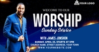 Sunday Service Worship Advert Facebook-annonce template